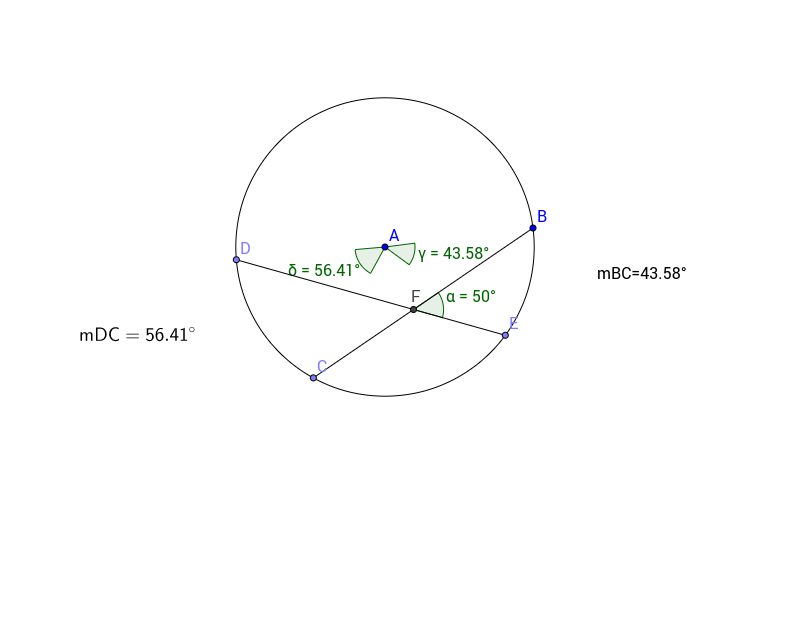 Circles Interior Angles