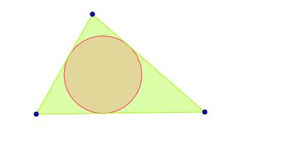 Circunferencia inscrita en un triángulo