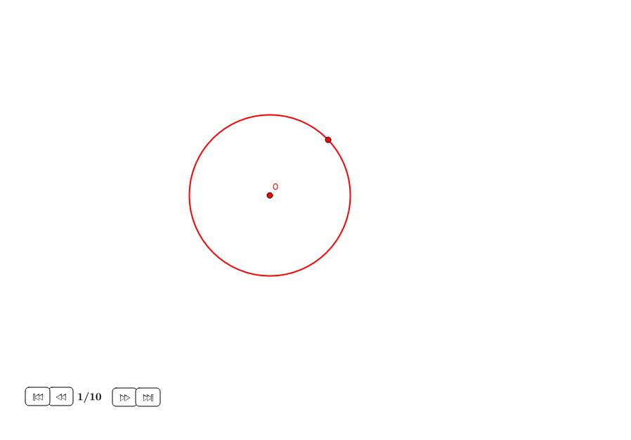 Dodecágono regular en un círculo