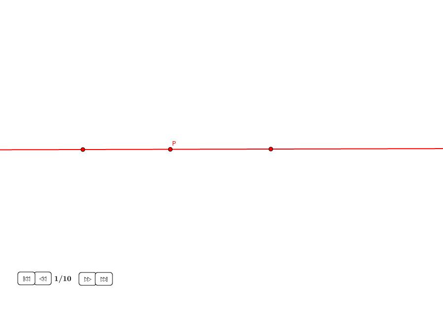Perpendicular por un punto en una recta 3