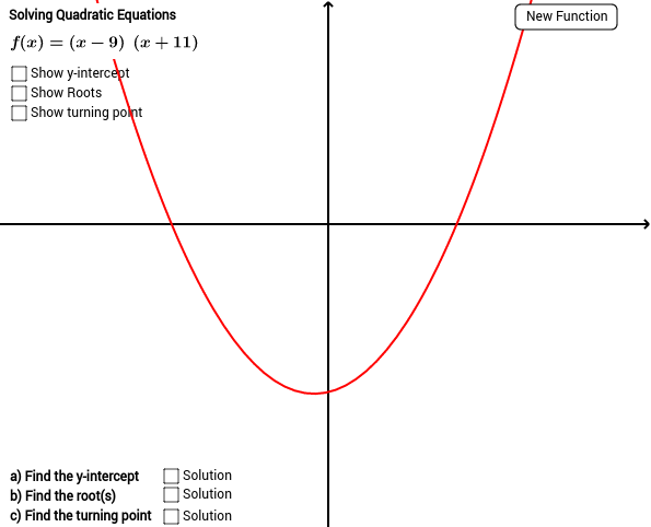 Quadratic Function with working