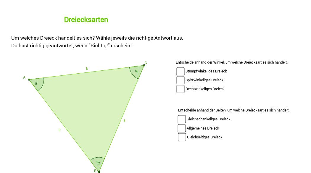Dreiecksarten 2