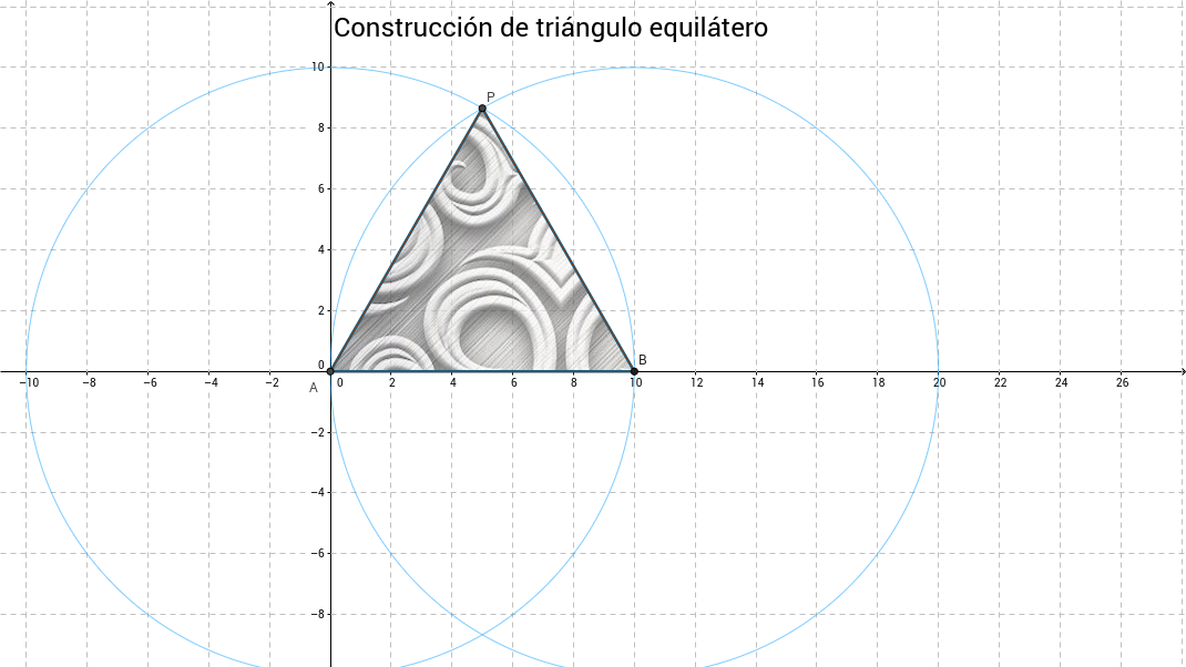 Construcción de triángulo equilátero