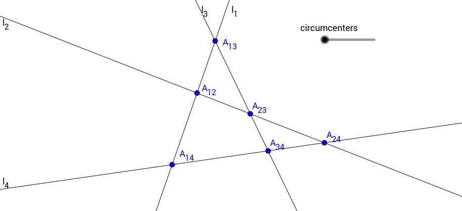 Four Circumcenters in a Quadrilateral