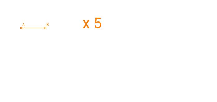 Multiplicar un segmento por un número entero.