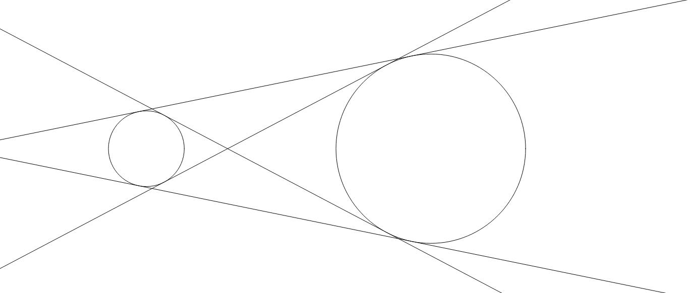 Két kör közös érintői