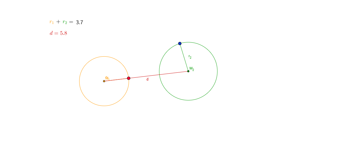 Intersection of two circles