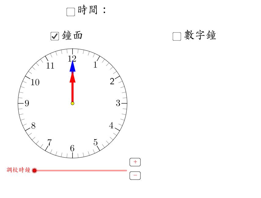 閱讀鐘面及數字鐘(時和分)