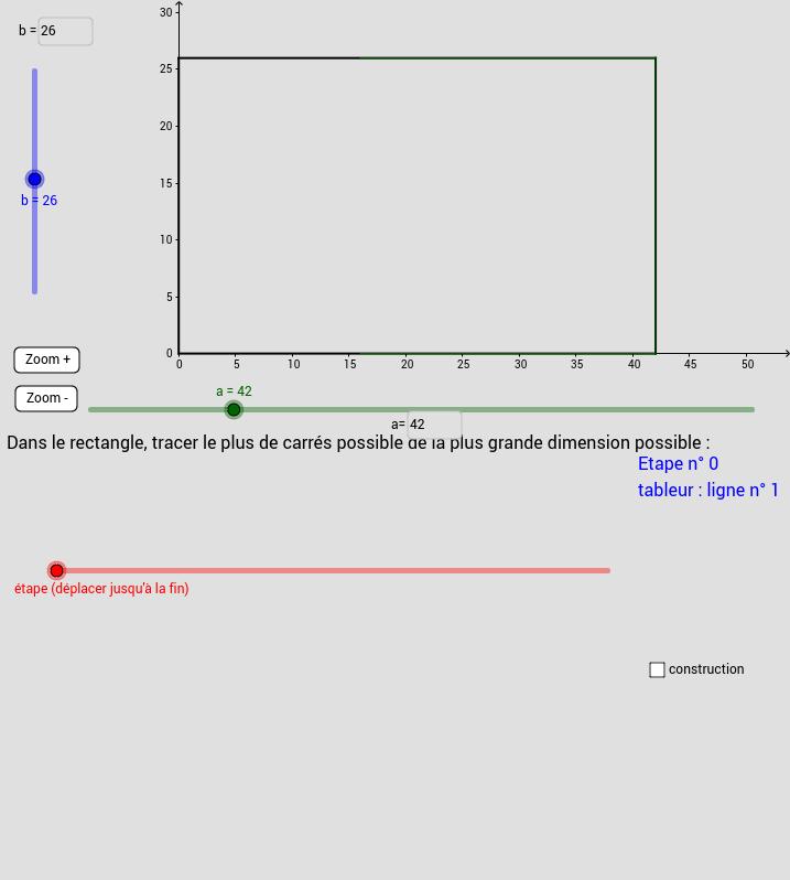 PGCD et géométrie d'Euclide.