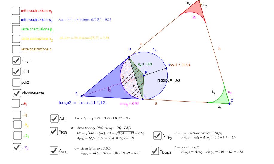 triang. circonf.iscritte luogo settori circolari