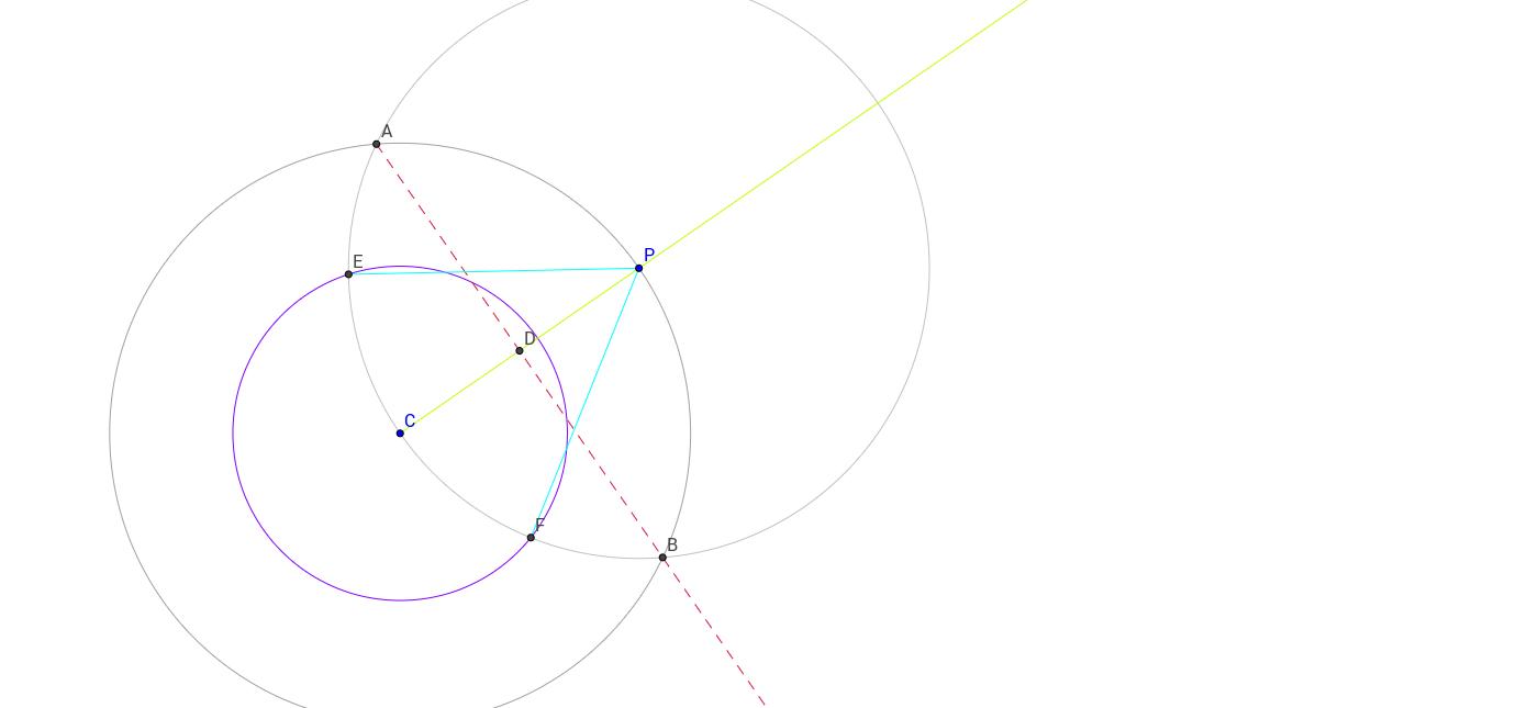 Recta tangente a una Circunferencia un punto fuera de ella.