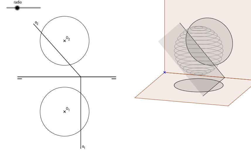 DT2.Diedrico. Esfera. Sección por plano proyectante.