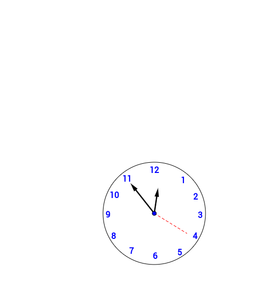 Relógio com o Geogebra.