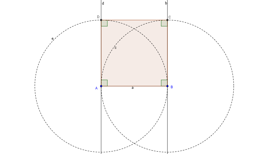 Square Construction in GeoGebra