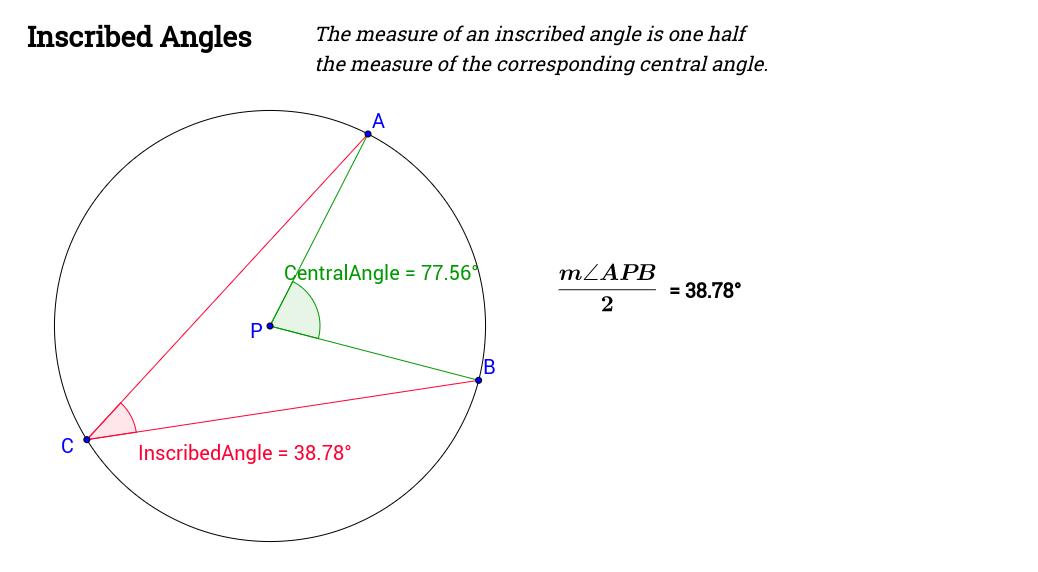 Explore Inscribed Angles