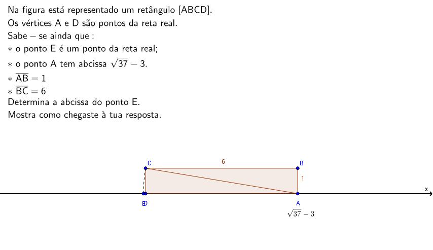 Determinar a abcissa de um ponto sobre o eixo do X.