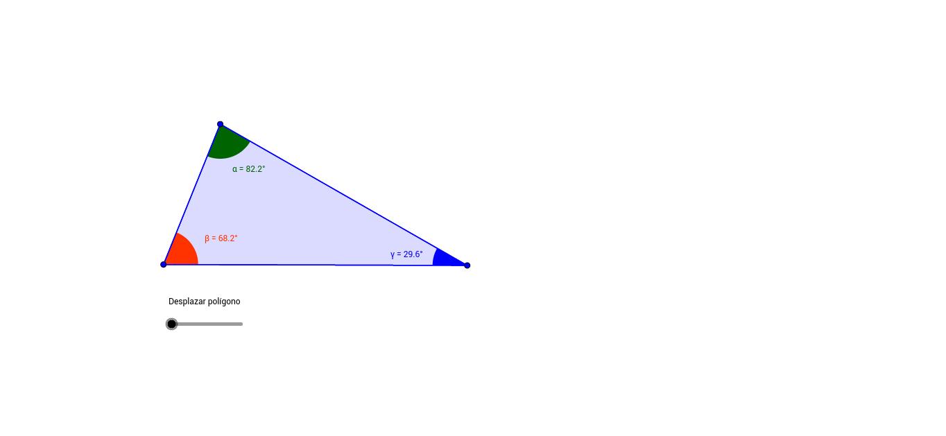 Suma de los Ángulos Interiores de un Triángulo