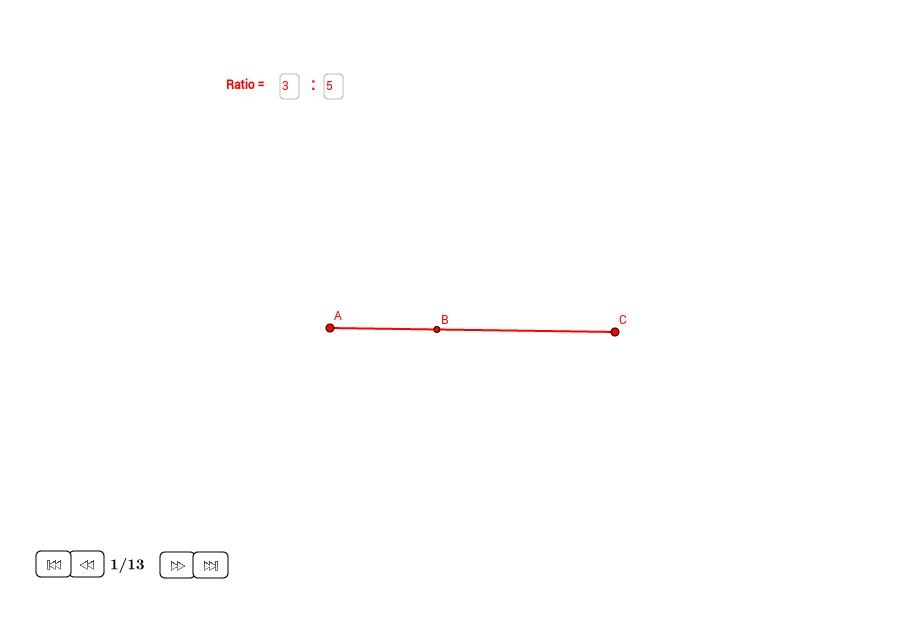Dos círculos con áreas en una ratio dada