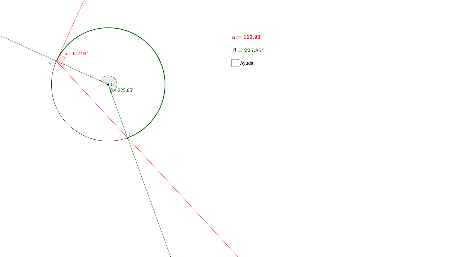 DIMAVA_Ángulo semiinscrito en circunferencia y relación angular