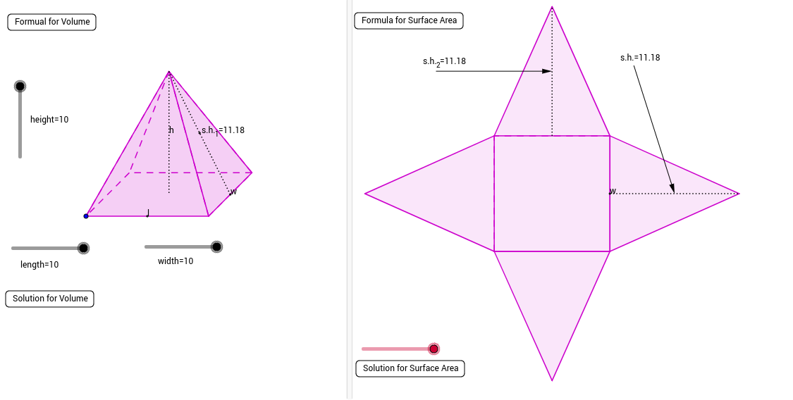 Copy of Rectangular Pyramid - GeoGebra