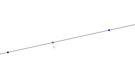 Elementa I.11: Normaalin konstruointi suoran pisteeseen