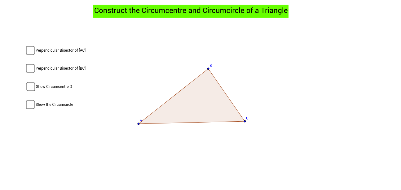 Circumcentre and Circumcircle of a Circle