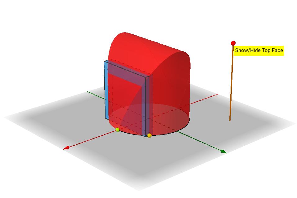 底圖為圓,縱切面為正方形