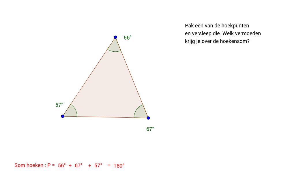 Driehoek. Hoekensom vermoeden