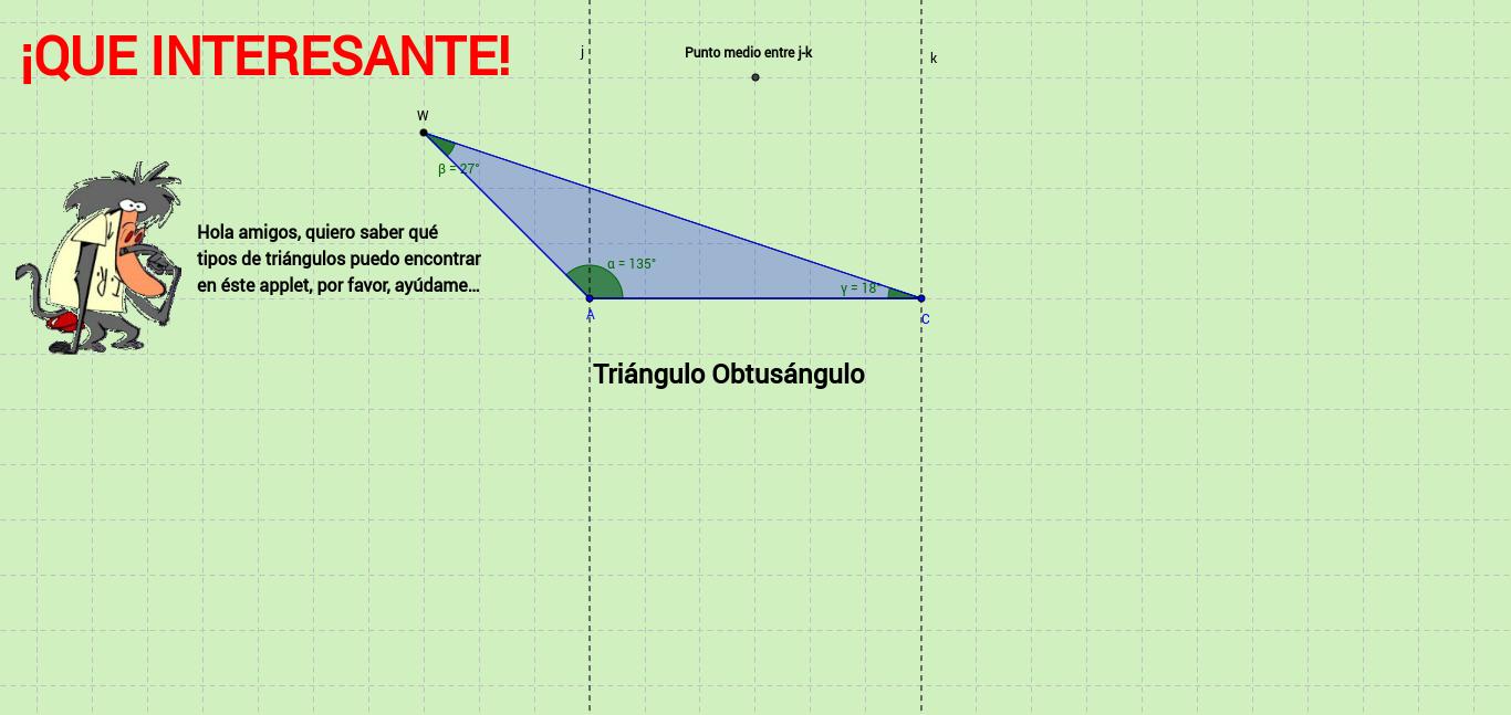 Clasificación de triángulos según sus ángulos.