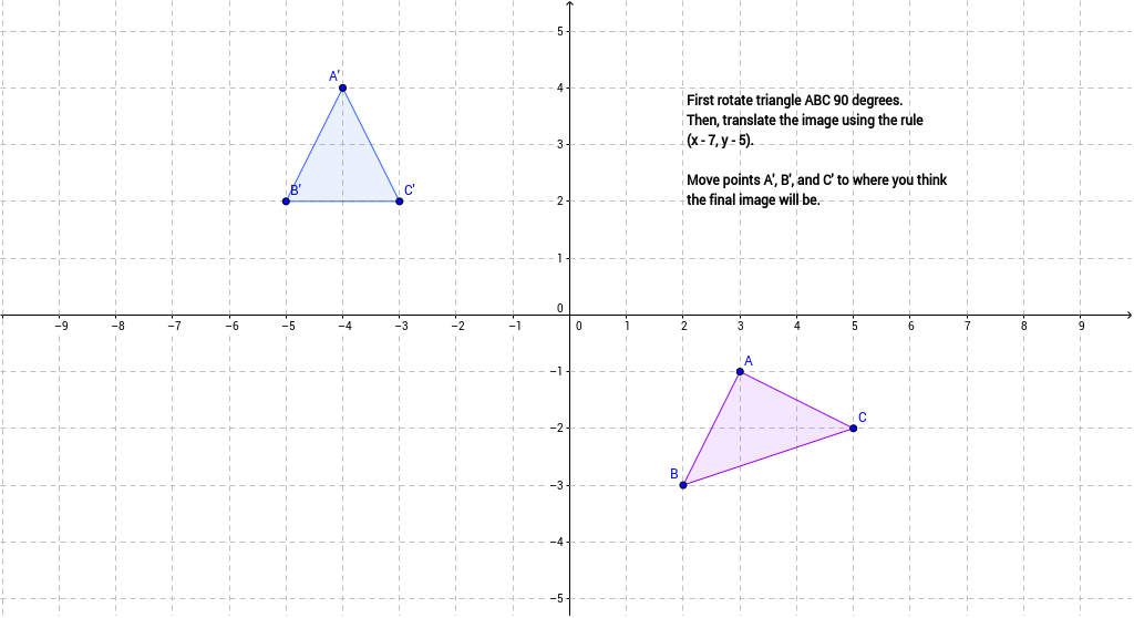 sequence of transformations worksheet problem 3 geogebra. Black Bedroom Furniture Sets. Home Design Ideas