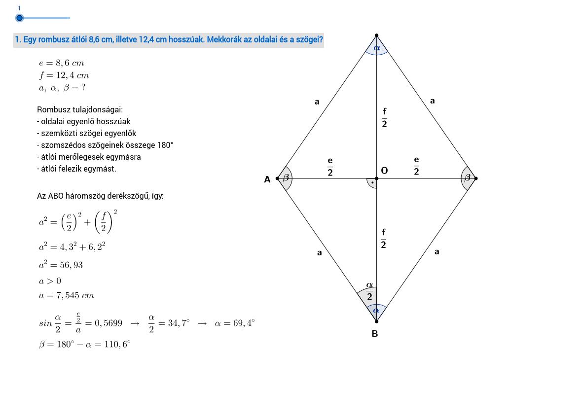 Trigonometriai feladatok