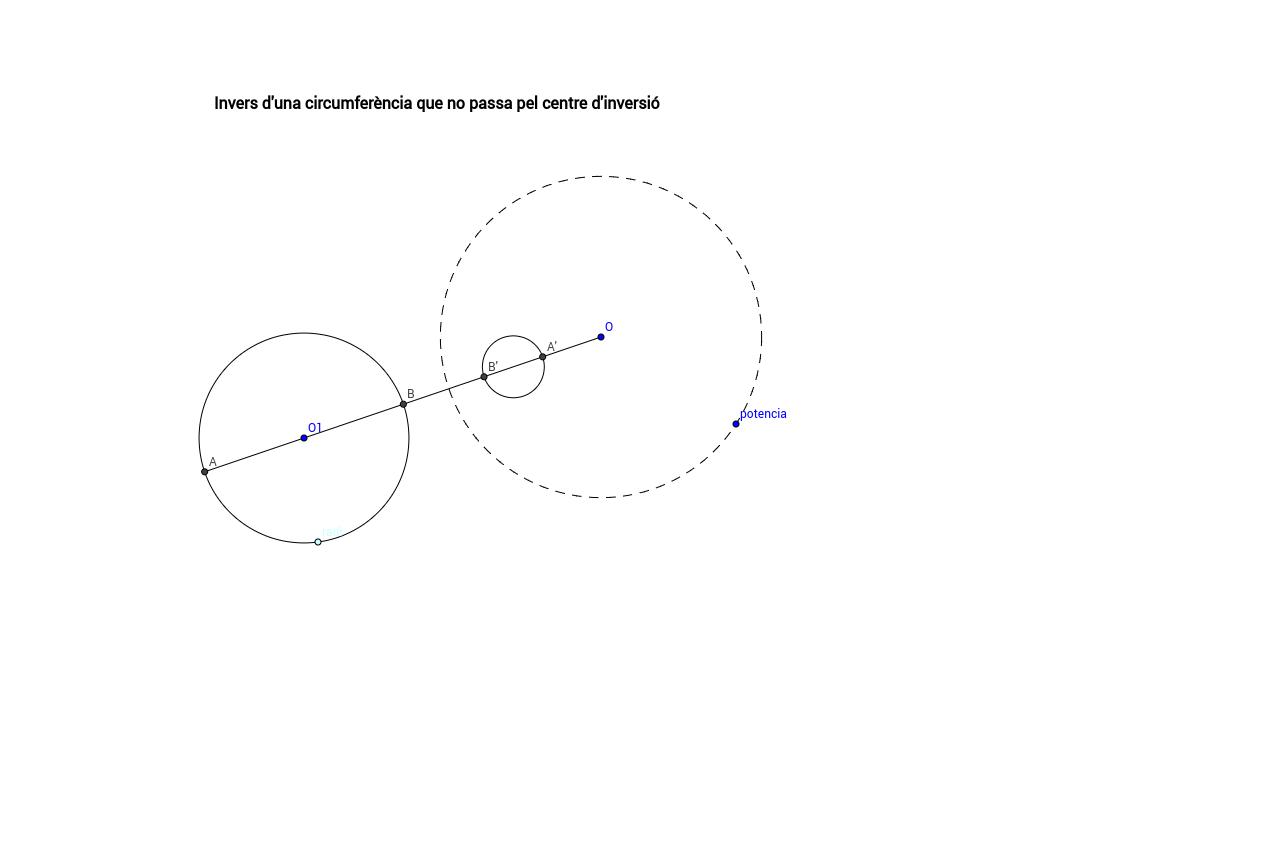 Inversió d'una circumferència que no passa pel centre d'inve