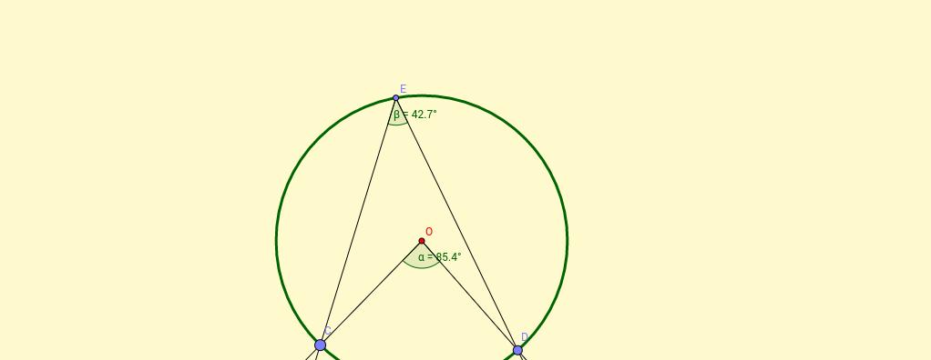 Ángulos en circunferencia