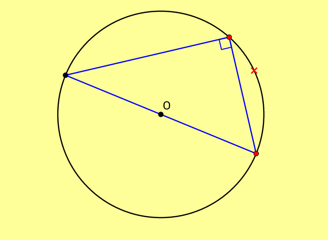 Angle in a Semi-Circle