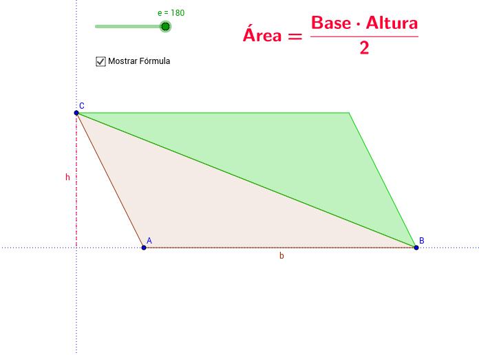 Área del triángulo (Obtusángulo)