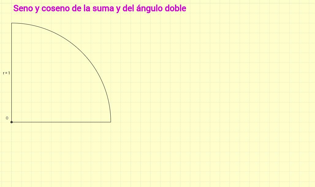 Seno y coseno de la suma y del ángulo doble