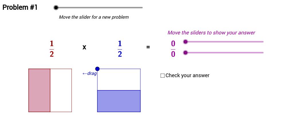 Multiplying Proper Fractions – Area Model Problems (1)