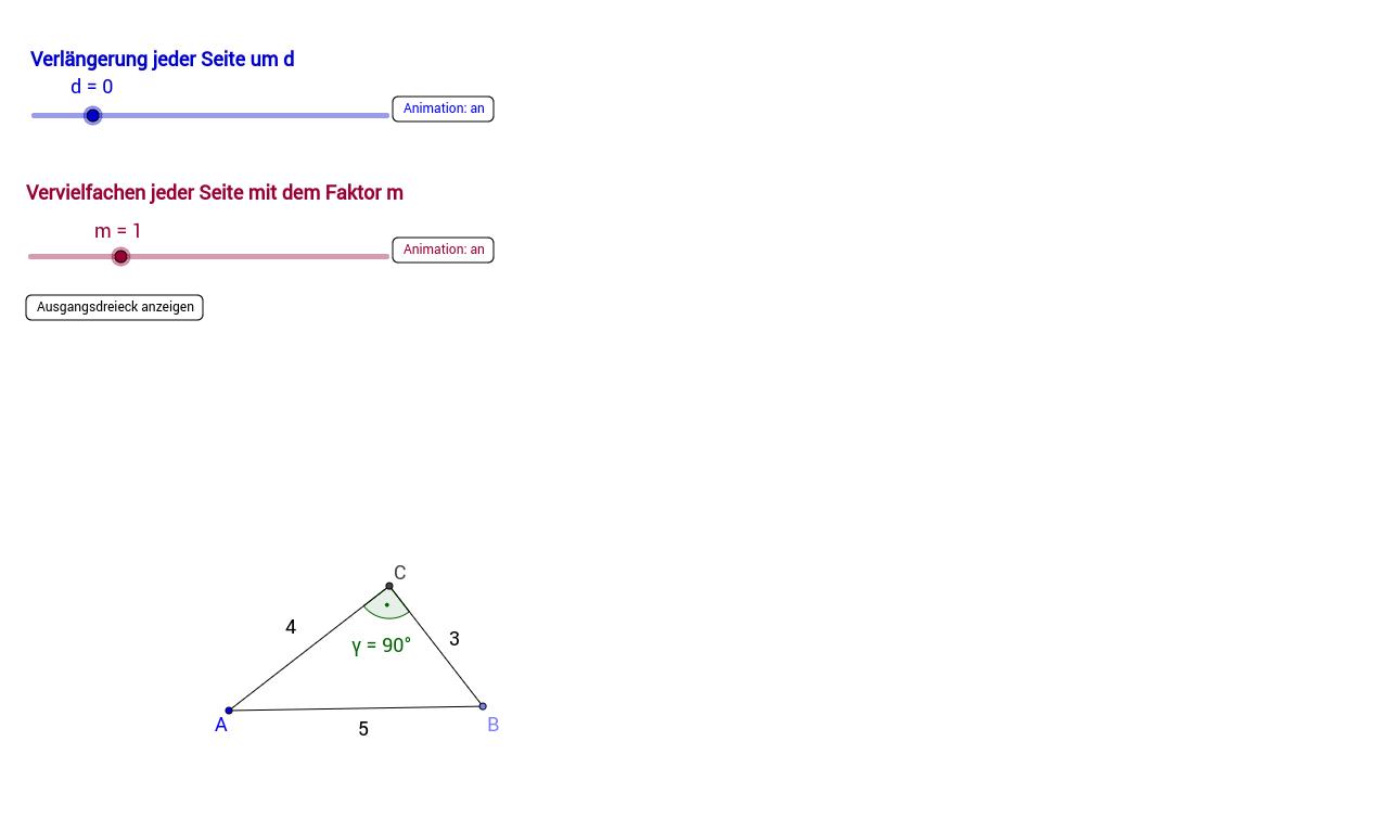 Rechtwinklige Dreiecke und pythagoreische Zahlentripel