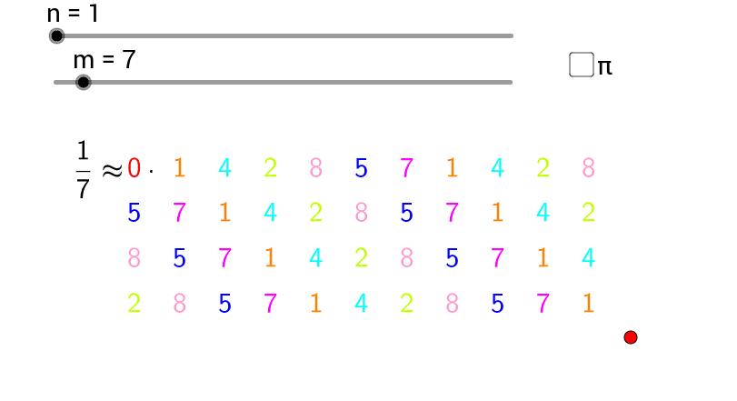 Patterns in decimals