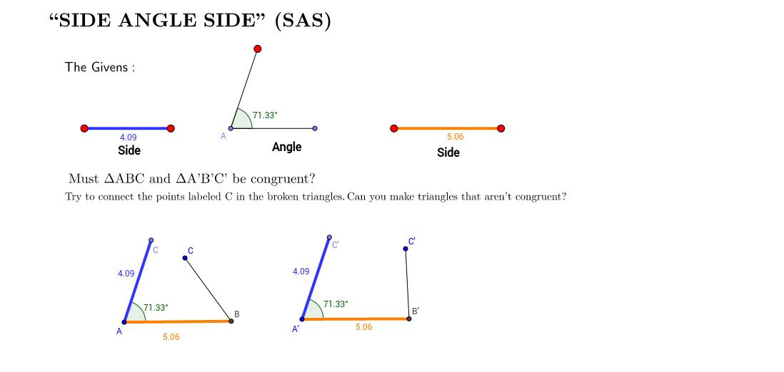 Side Angle Side (SAS)