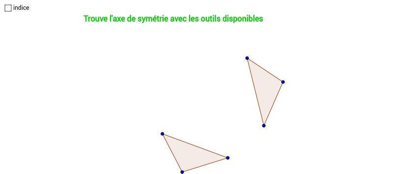 Trouve l'axe de symétrie 3/7