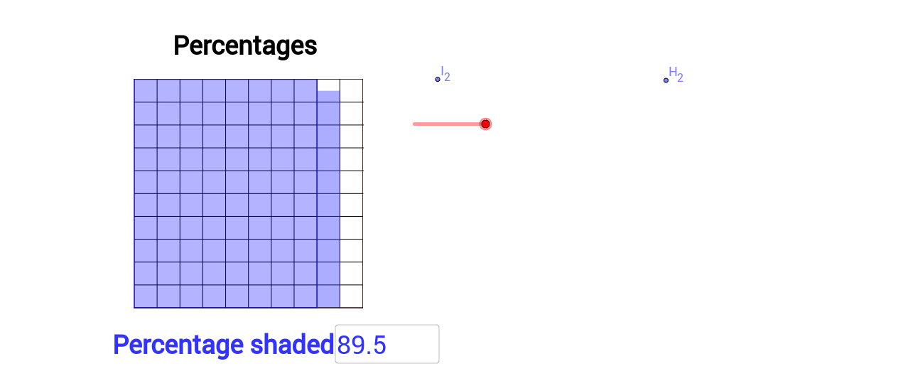 Percentage grid shaded explorer