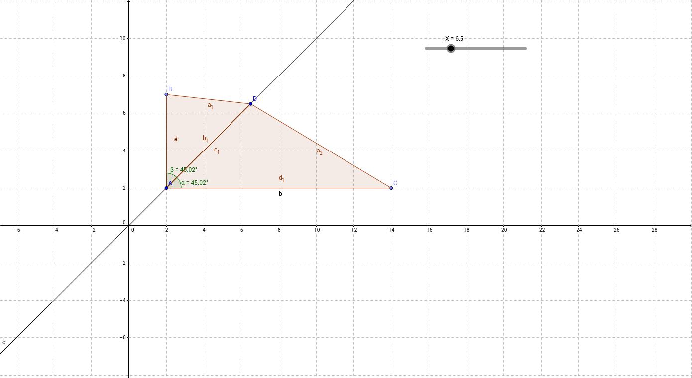 Решение уравнения геометрическим методом (треугольники)