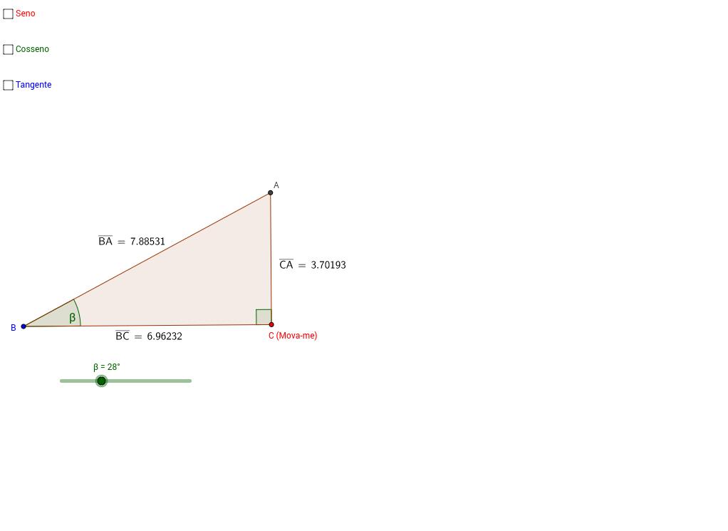 Funções trigonométricas no triângulo retângulo