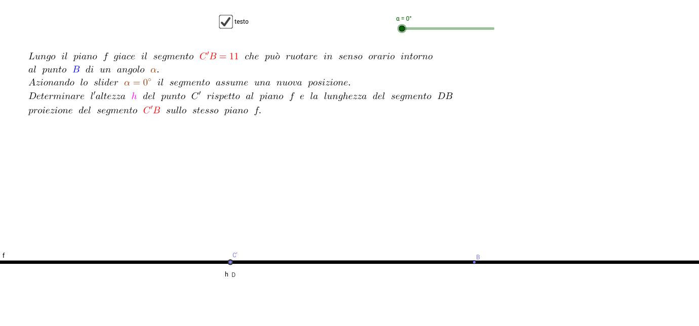 rotazione di un segmento