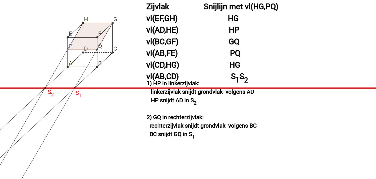 Snijlijn twee vlakken - vrije oefening 1 (Delta 4B)