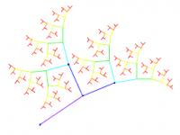 Fractal binary tree