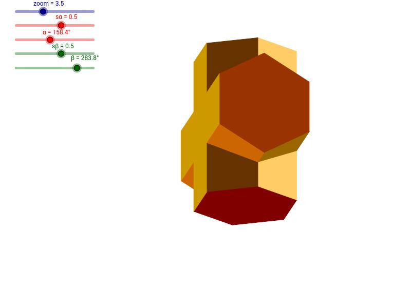 Dwa graniastosłupy sześciokątne - 2