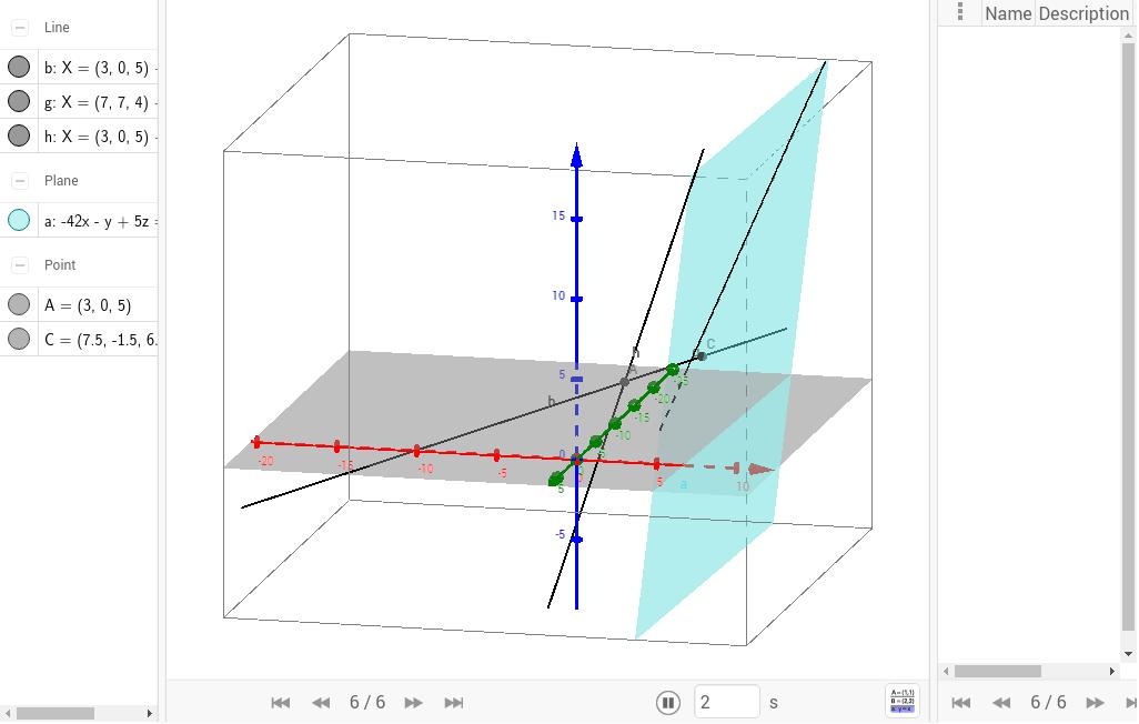Abstand windschiefer Geraden – GeoGebra