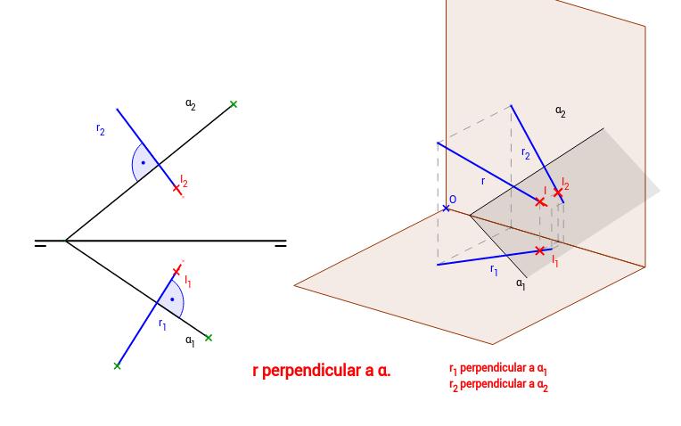 DT2.Diedrico. Perpendicularidad recta-plano.